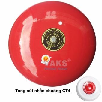 Chuông điện dạng đĩa 10 in - 100dB + tặng kèm nút nhấn CT4-1608