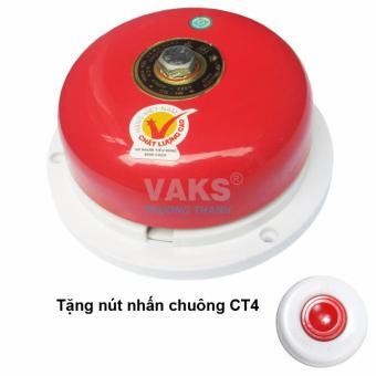 Chuông điện dạng đĩa 4 in - 75dB + tặng kèm nút nhấn CT4-1608