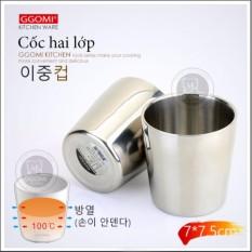 Cốc 2 lớp inox GGomi công nghệ chân không cách nhiệt GG764 – Hàng nhập khẩu Hàn Quốc