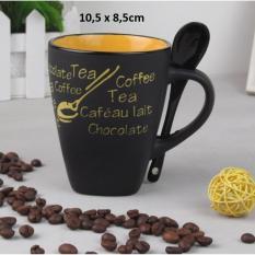 Cốc sứ + muỗng uống trà, cafe 330ml độc đáo