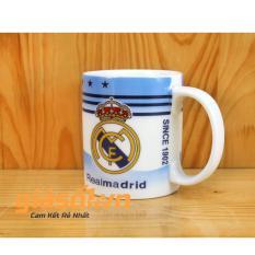 Cốc uống nước hình câu lạc bộ bóng đá Realmadrid – 350ml Bát Tràng