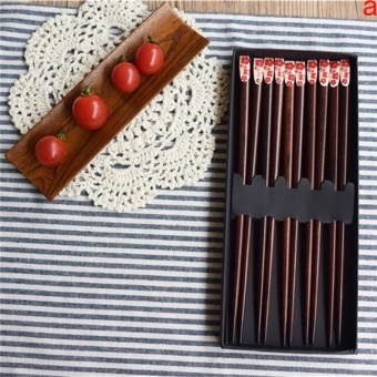 Cocotina creative nail gift box 5 double loaded printed woodenchopsticks - intl