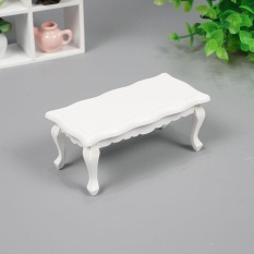 Cocotina Miniature Furniture Model Solid Wood White Coffee Table