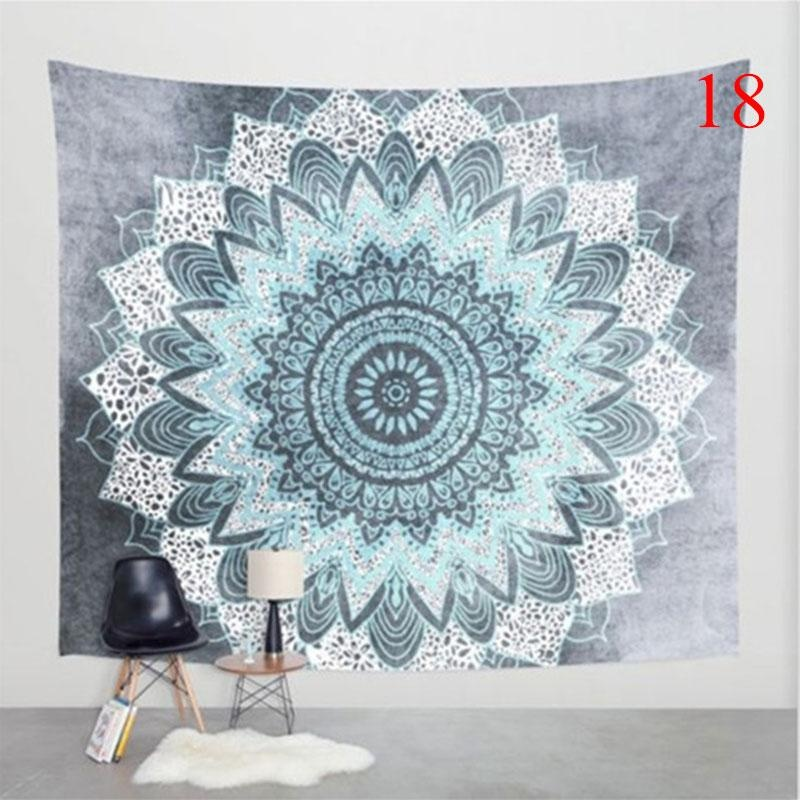 Colorful Printed Mandala Tapestry Religious Bohemia Beach Blanket( Color:18,Size:XL ) – intl
