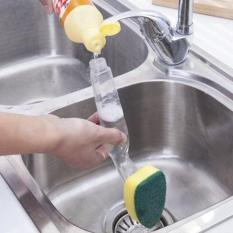 Combo 02 dụng cụ cọ rửa bát đĩa, xoong chảo có cán cầm tay