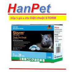 Combo 1 hộp 5 gói x 20 viên Thuốc Diệt Chuột Storm CHỐNG ĐÔNG MÁU (THUỐC CHUỘT hanpet 413c)