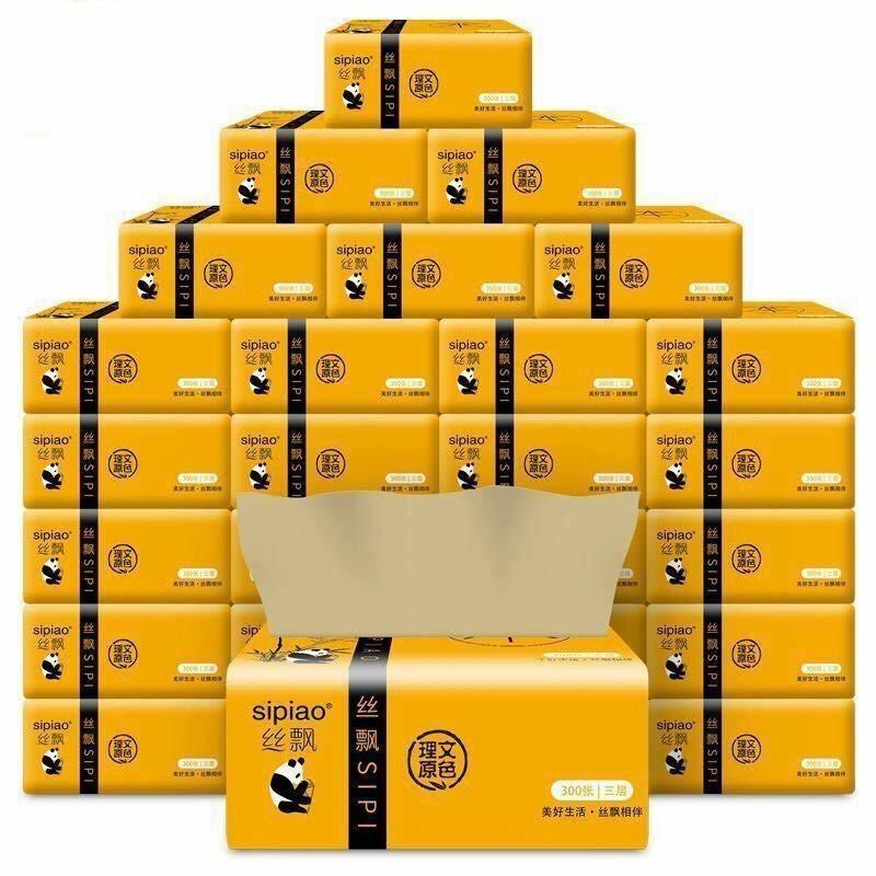 Cửa hàng bán Combo 10 gói giấy ăn gấu trúc Sipiao – siêu dai
