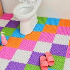 Combo 10 tấm thảm nhựa ghép chống trơn 25 x 25 cm