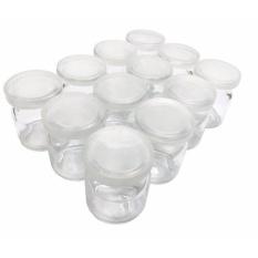 Combo 12 Hũ Thủy Tinh Làm Sữa Chua Có Nắp