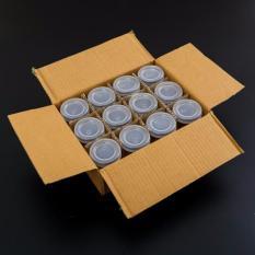 Combo 12 hũ thủy tinh làm sữa chua nắp chụp