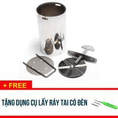 COMBO 2 BỘ khuôn làm giò bằng inox loại 2KG – Tặng dụng cụ lấy ráy tai có đèn – SDX247