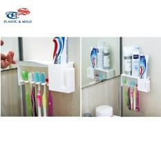 COMBO 2 cái Kệ treo bàn chải, kem đánh răng thông minh TASHUAN TS-712