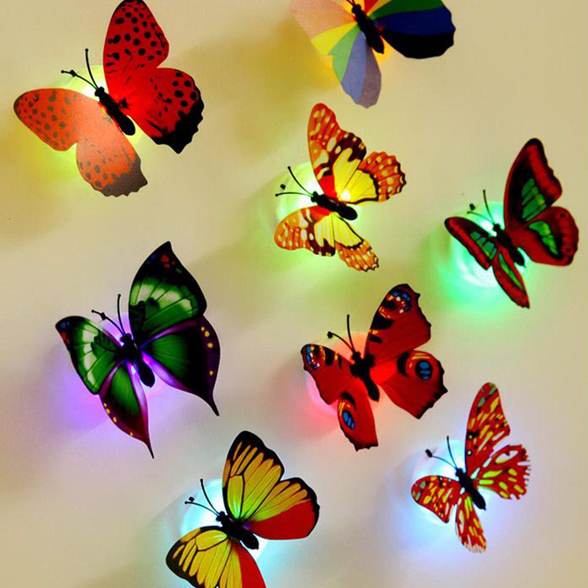 Combo 2 đèn bướm trang trí phát quang