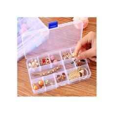 Combo 2 hộp nhựa chia ngăn 15 ô ( Trắng đục )