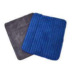 Combo 2 thảm lau chân microfiber 2 mặt thấm hút Nhà Đẹp