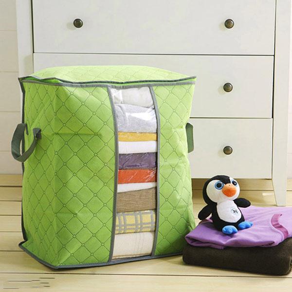 Combo 2 Túi đựng chăn màn quần áo cỡ lớn màu xanh lá