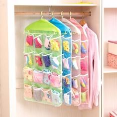 Combo 2 Túi treo tủ quần áo 16 ngăn hỗ trợ đựng vớ, khăn tay và vật nhỏ Chodeal24h – Màu ngẫu nhiên