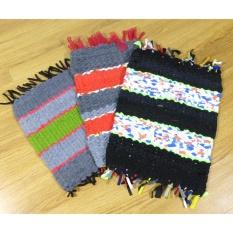 Combo 3 chiếc thảm đan chữ nhật tốt