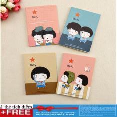 Combo 2 cuốn sổ tay mini siêu cute + Tặng kèm thẻ tích điểm Verygood