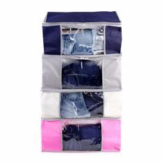 Combo 4 túi vải đựng đồ đa năng loại trung vải dày dặn (50 x 38 x 20cm) hàng Việt Nam