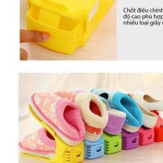 Combo 5 Kệ giày thông minh tiết kiệm diện tích tới 2 lần – 100% tăng giảm chiều cao giúp để được mọi loại giày – màu ngẫu nhiên