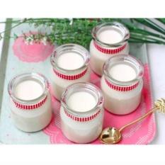 Combo 6 Hũ Thủy Tinh Làm Sữa Chua Có Nắp