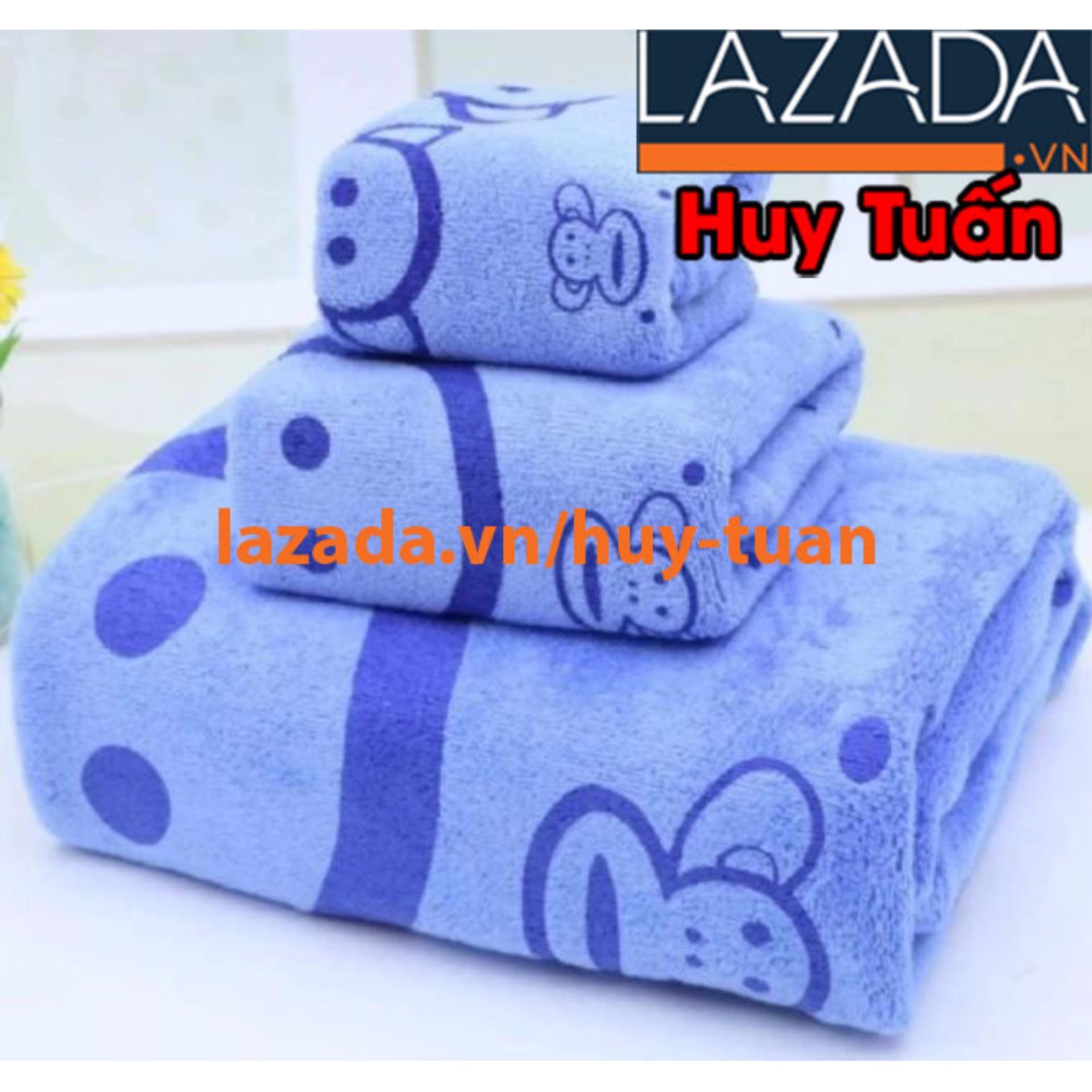 Ở đâu bán Combo bộ 3 khăn tắm – khăn mặt – khăn nhỏ tiện dụng