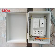 Combo tủ điện trong nhà và ngoài trời LiOA – Loại có 2 công tắc – LVJLCB2C