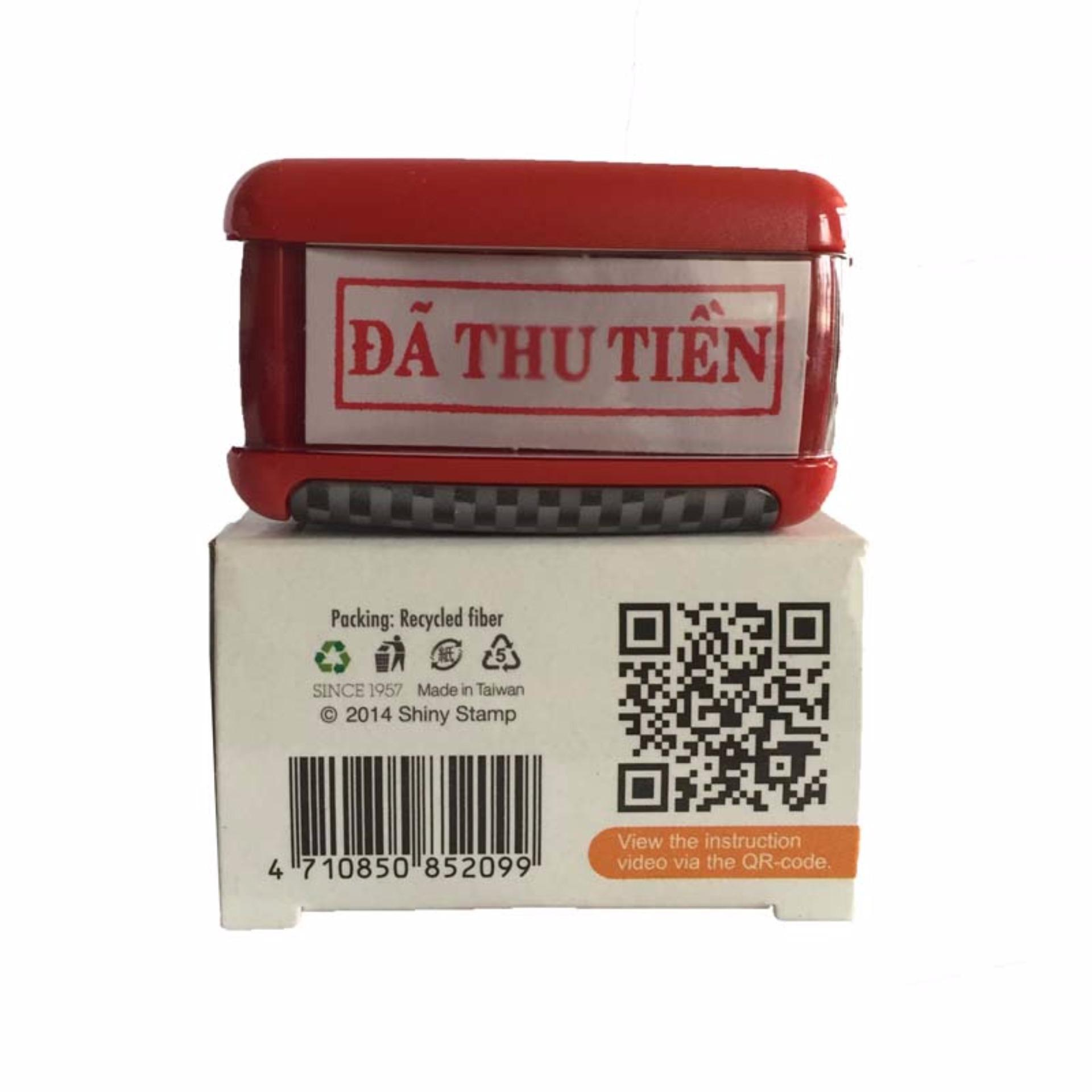 """Bảng Giá Con dấu liên mực """"ĐÃ THU TIỀN"""" Printer S-852 (Màu đỏ)"""