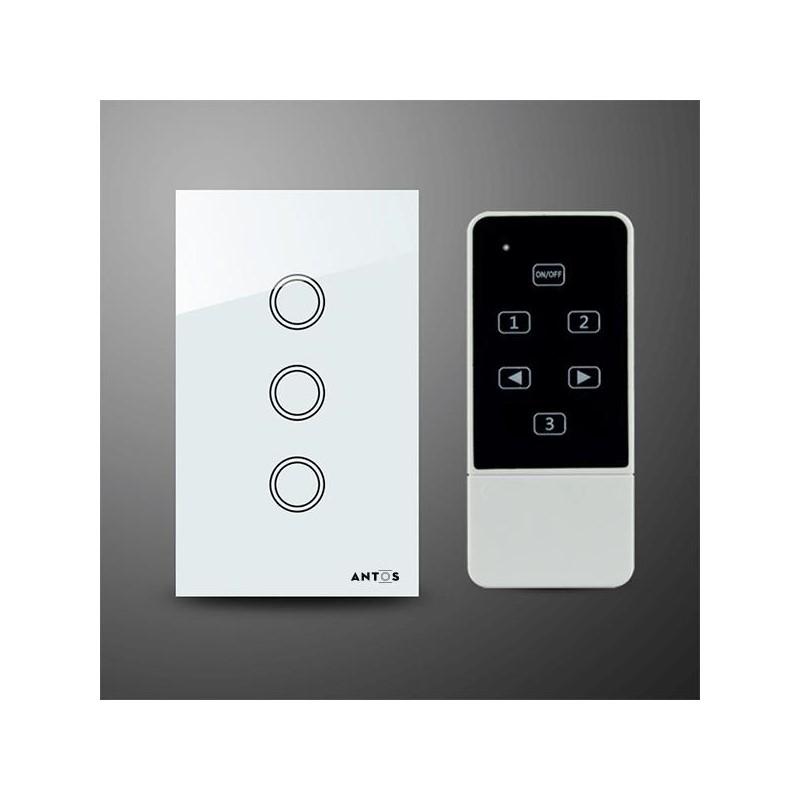Công tắc cảm ứng 3 nút kèm điều khiển từ xa AT-L3W1R