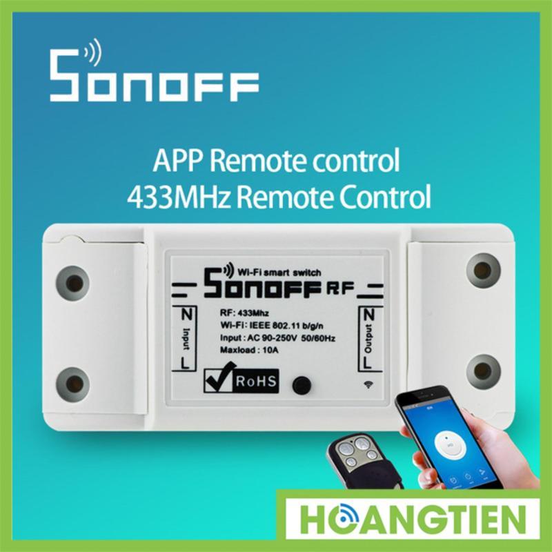 Công tắc điều khiển từ xa Wifi và RF Sonoff HT-TH10