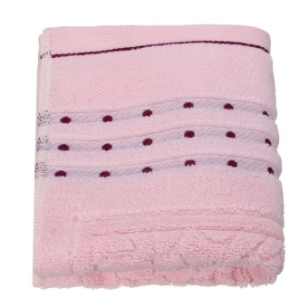 Cotton Towel Face Cloth Hand Bath Towel Pink - intl