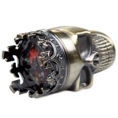 Creative King Skull Shape Metal Grinder Herb Spice Muller Crusher - Intl