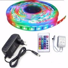 Cuộn đèn Led dây dán 5m đổi nhiều màu (RGB) + Nguồn + Remote điều khiển