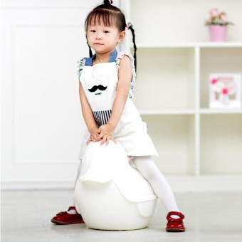 Cute Cotton Children's Aprons Cooking Eatting Apron Cleaning Apron Mustache - intl