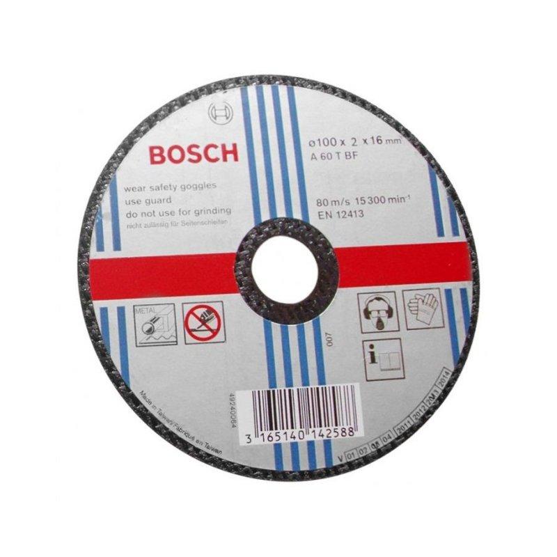 Đá cắt sắt Bosch 2608600266 100 x 1.2 x 16mm (Đen)