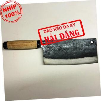 Dao phở chặt xương Hải Đăng - Đa Sỹ rèn thủ công bằng nhíp ô tô700g (cán gỗ) HD18-04