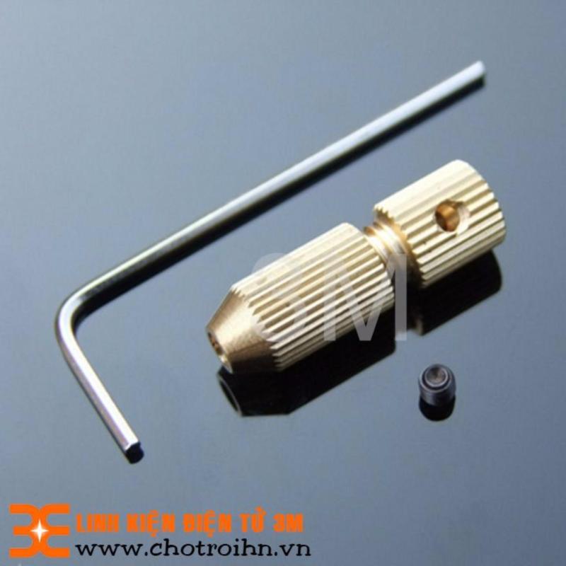 ĐẦU KẸP MŨI KHOAN 3215 0.8-1.5mm TRỤC Ø3.2mm Tặng Lục Giác Bắt Ốc Tiện Dụng