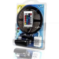 Dây Led 5m trang trí trần, nội thất sử dụng chip LED 3528 đổi màu RGB + Nguồn, Adapter + điều khiển