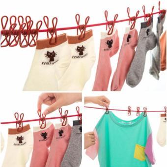 Dây Phơi quần áo Có Móc Kẹp Đa Năng Smartbuy (180CM)