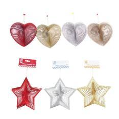 Ở đâu bán Dây treo trang trí giáng sinh lấp lánh hình trái tim/ ngôi sao UBL XB1186