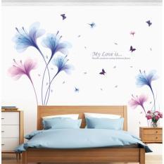 Decal dán tường hoa màu tím My Love is XL8262