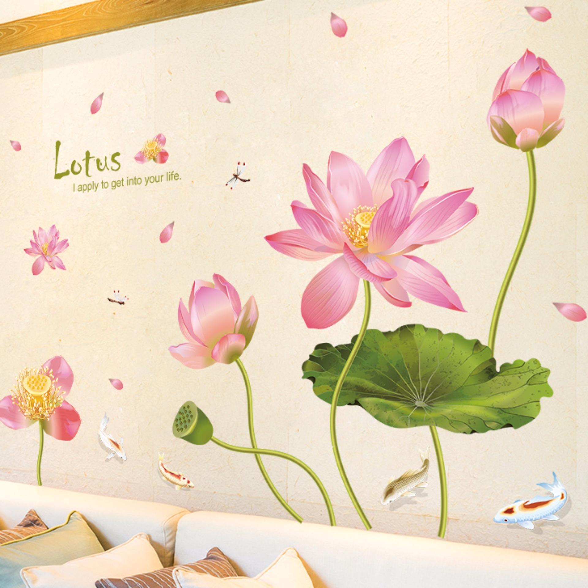 Decal dán tường HOA SEN – HPMXL8292-flowerdecal