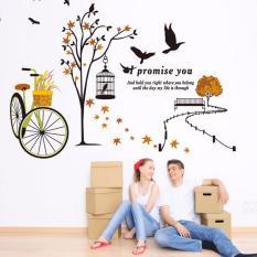 Giấy dán tường các mẫu về tình yêu, love , có sẵn keo, bóc dán dễ dàng trên mọi bề mặt Zooyoo Home Decor
