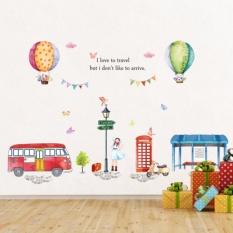 Decal dán tường khinh khí cầu đáng yêu cho bé ABC106