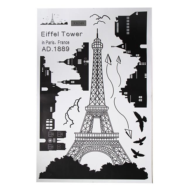 Decal dán tường Tháp Eiffel
