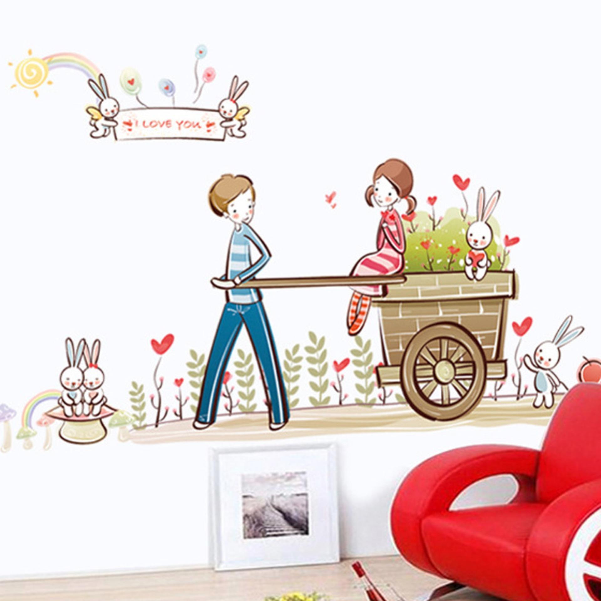 Cách mua Decal dán tường tình yêu lãng mạn cho bé AY7094