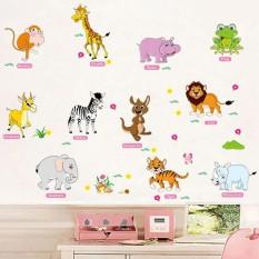 Decal dán tường từ tiếng anh về loài vật cho bé AM9215