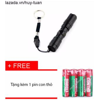 Đèn 3w siêu sáng nhỏ gọn + free 1 pin con thỏ