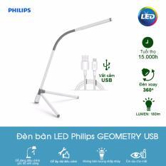 Đèn bàn học LED Philips 66046 Geometry